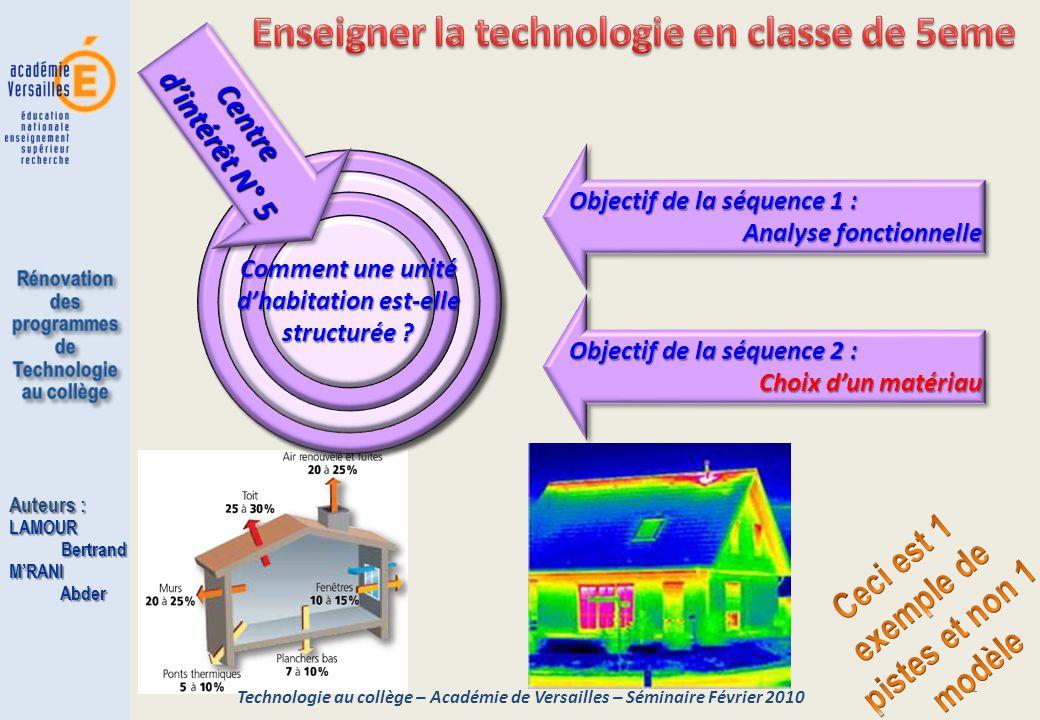 Enseigner la technologie en classe de 5eme