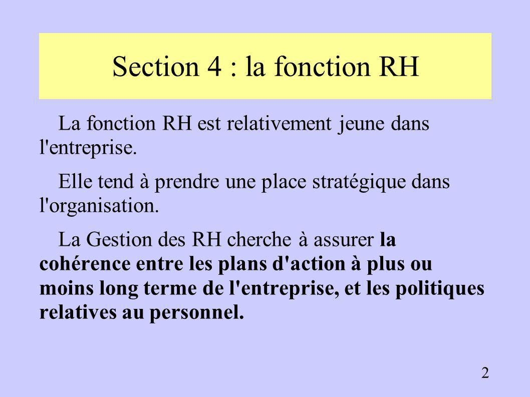Section 4 : la fonction RH