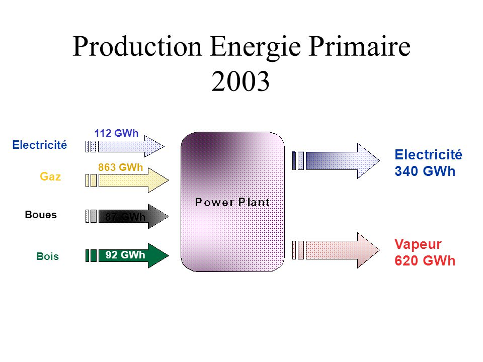 Production Energie Primaire 2003