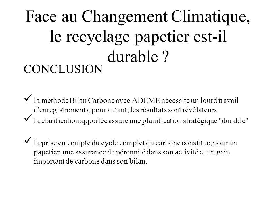Face au Changement Climatique, le recyclage papetier est-il durable