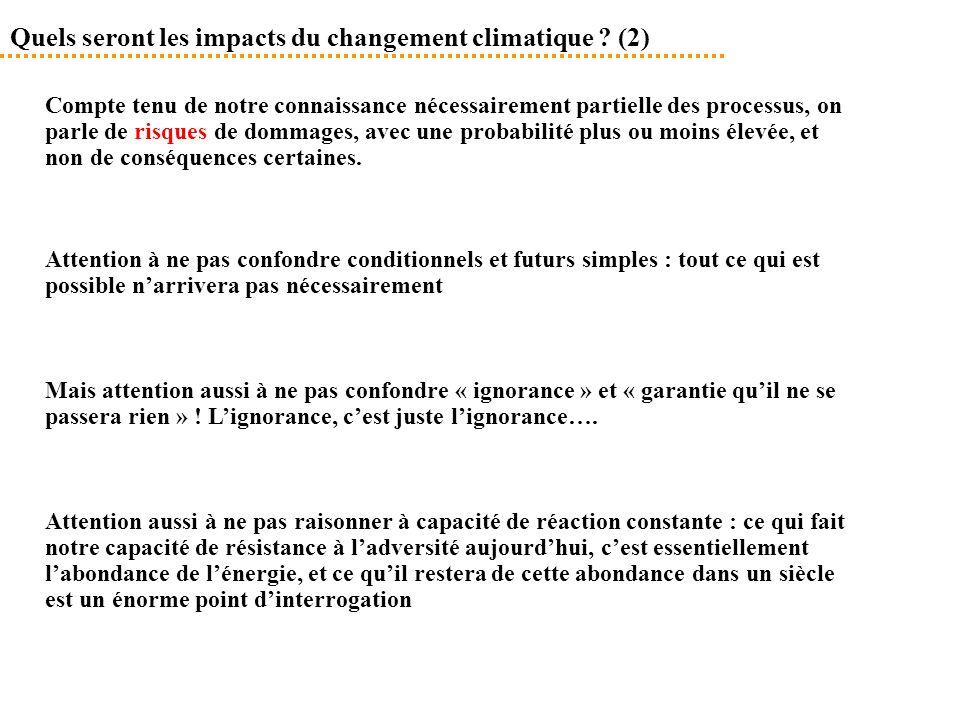 Quels seront les impacts du changement climatique (2)