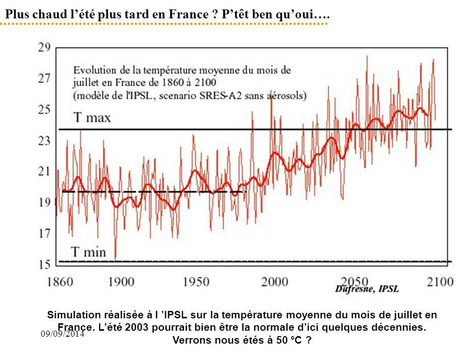 Plus chaud l'été plus tard en France P'têt ben qu'oui….