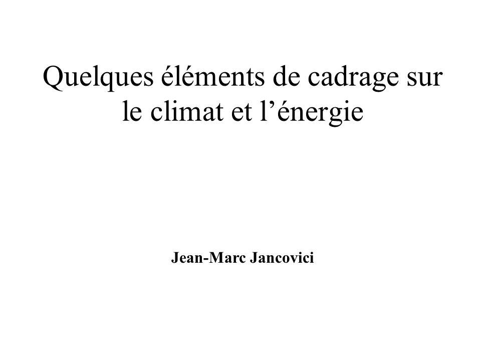 Quelques éléments de cadrage sur le climat et l'énergie