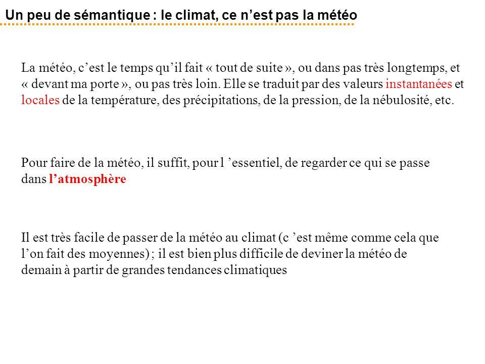 Un peu de sémantique : le climat, ce n'est pas la météo
