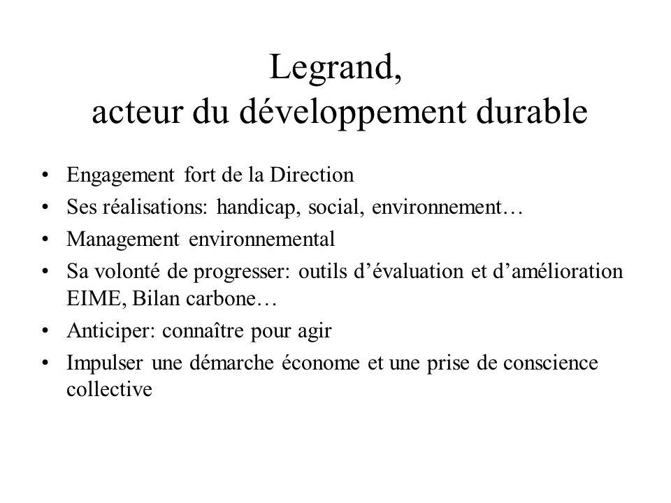 Legrand, acteur du développement durable