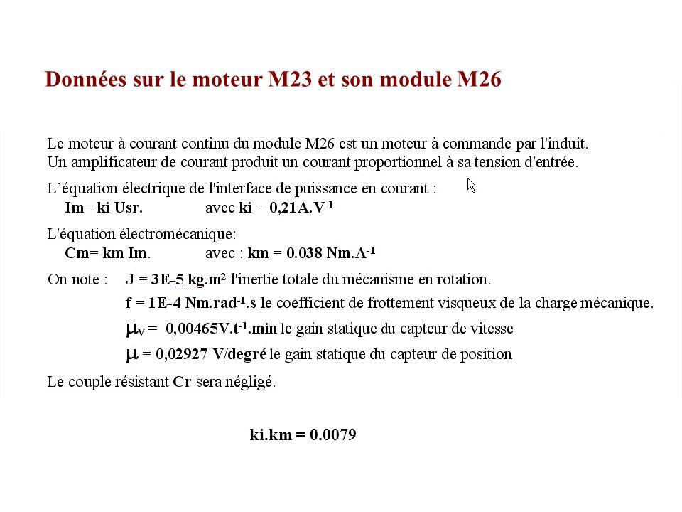 Données sur le moteur M23 et son module M26
