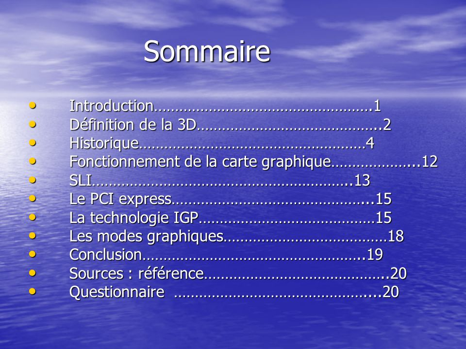 Sommaire Introduction…………………………………………….1