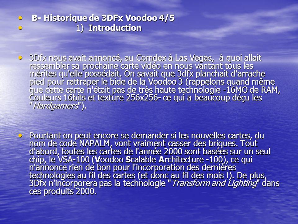 B- Historique de 3DFx Voodoo 4/5