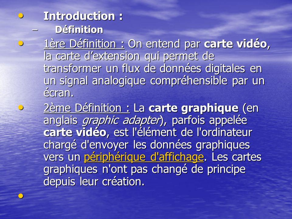 Introduction : Définition.
