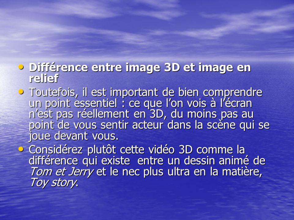 Différence entre image 3D et image en relief