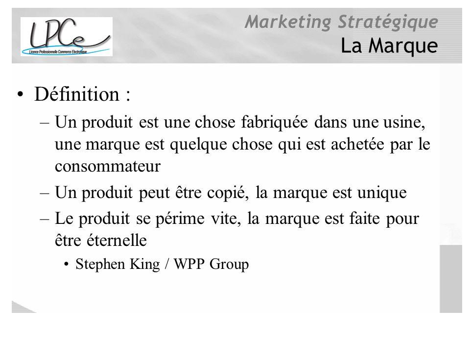 La Marque Définition : Un produit est une chose fabriquée dans une usine, une marque est quelque chose qui est achetée par le consommateur.