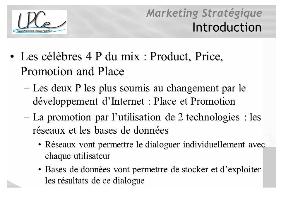 Les célèbres 4 P du mix : Product, Price, Promotion and Place