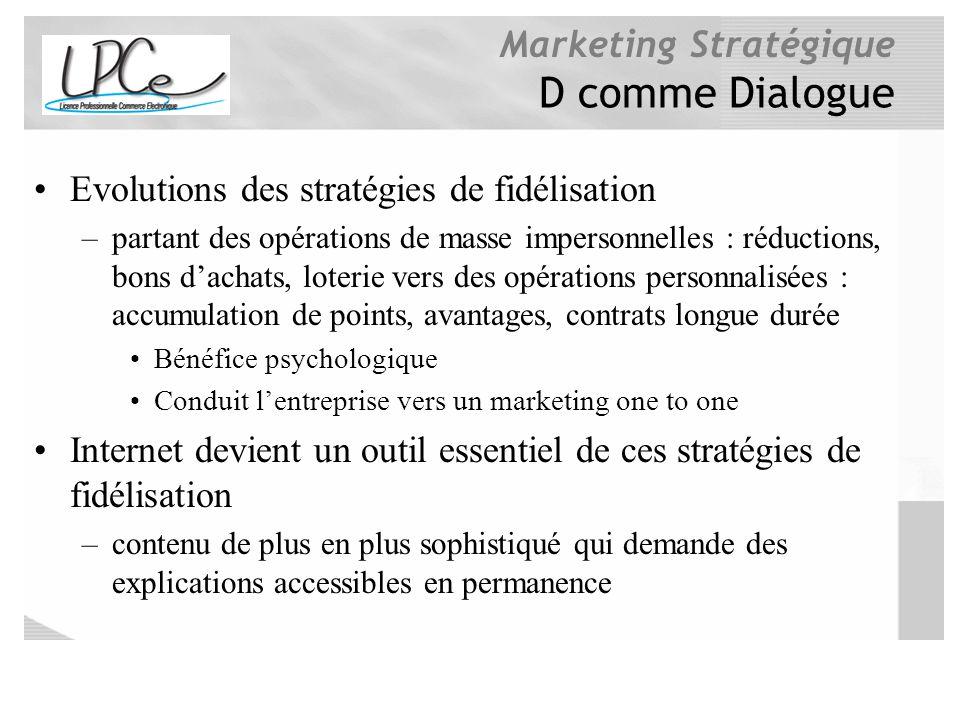 D comme Dialogue Evolutions des stratégies de fidélisation