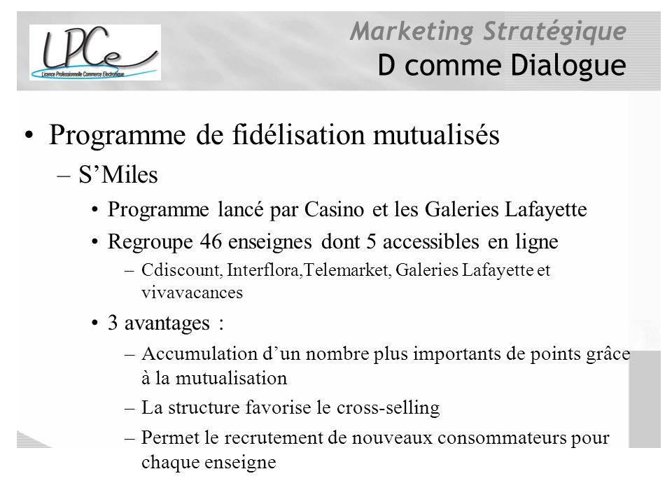 Programme de fidélisation mutualisés