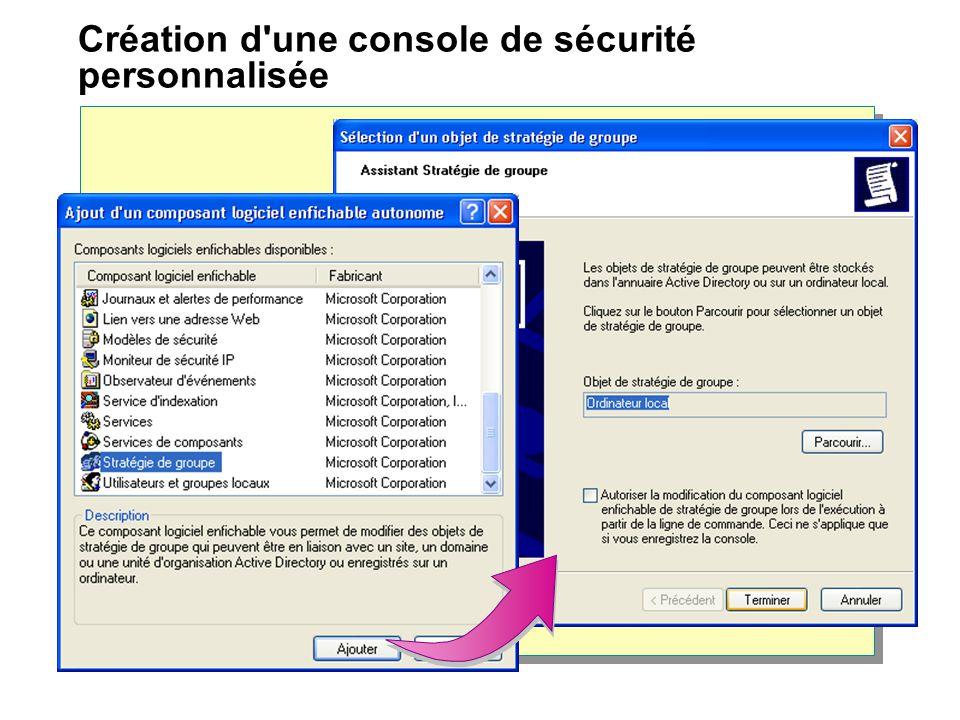 Création d une console de sécurité personnalisée