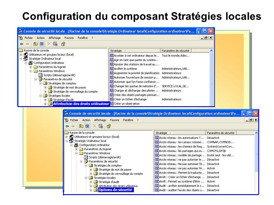 Configuration du composant Stratégies locales