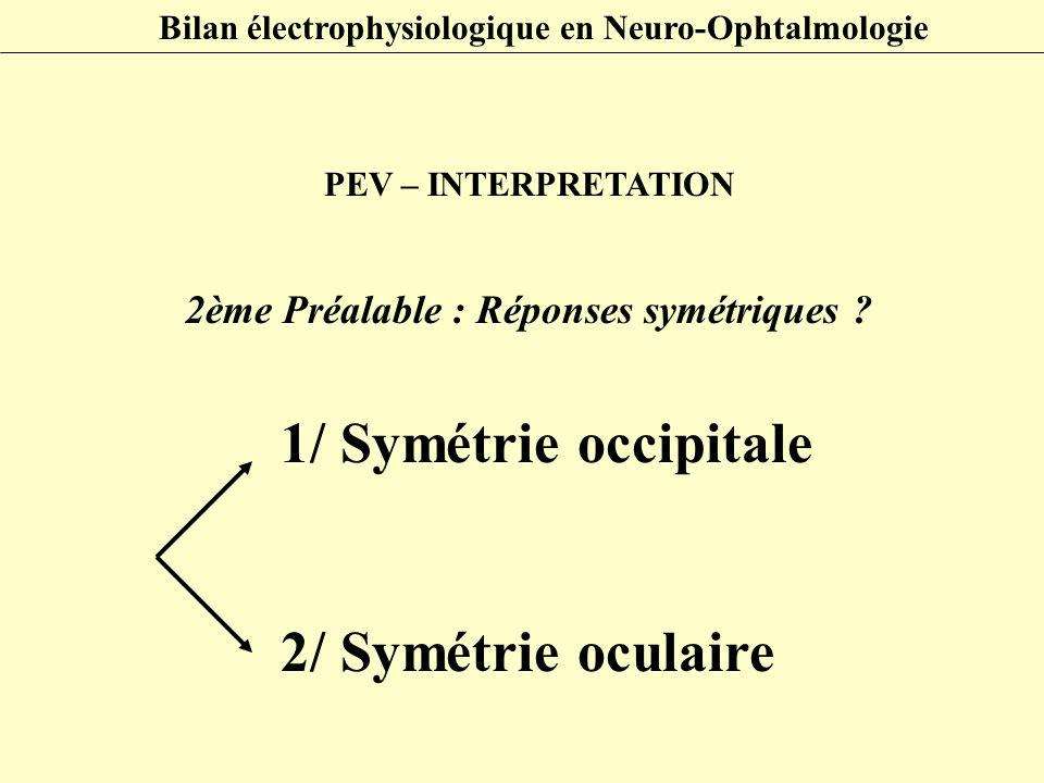 1/ Symétrie occipitale 2/ Symétrie oculaire