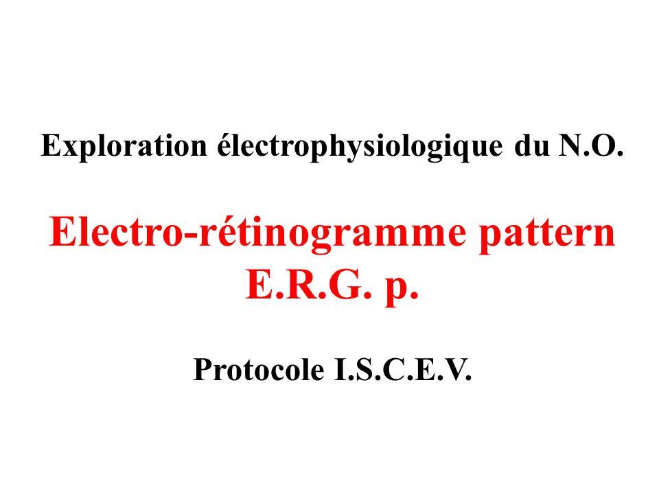 Electro-rétinogramme pattern E.R.G. p.