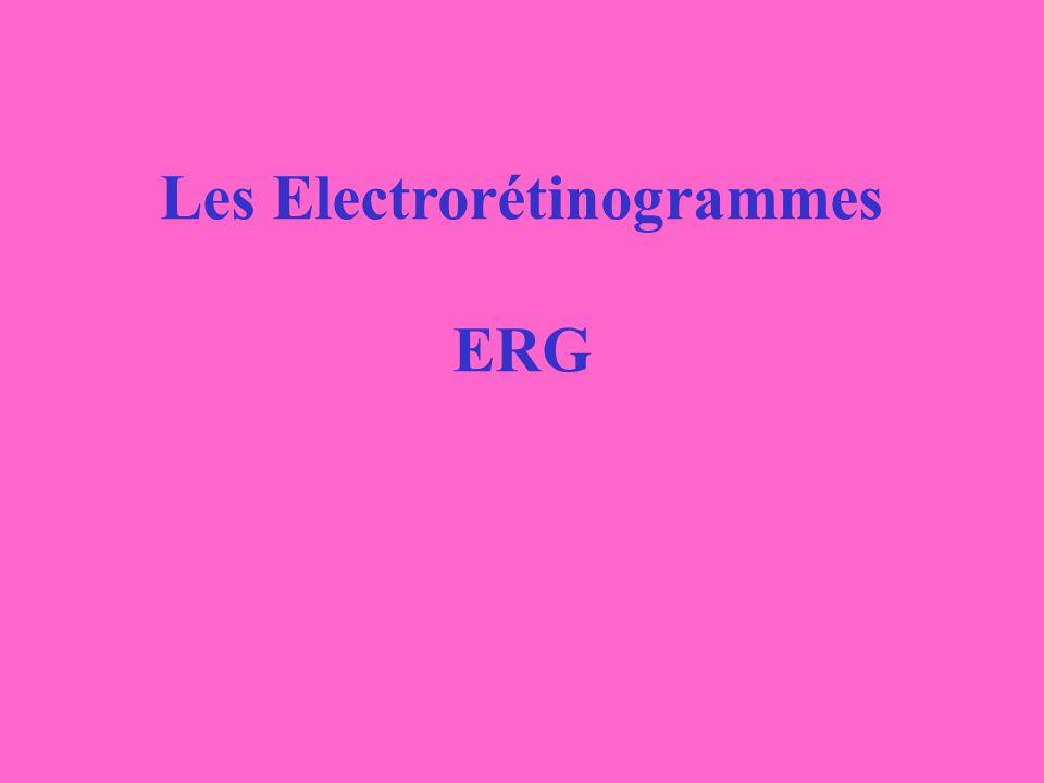 Les Electrorétinogrammes