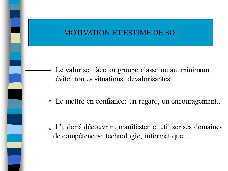 MOTIVATION ET ESTIME DE SOI