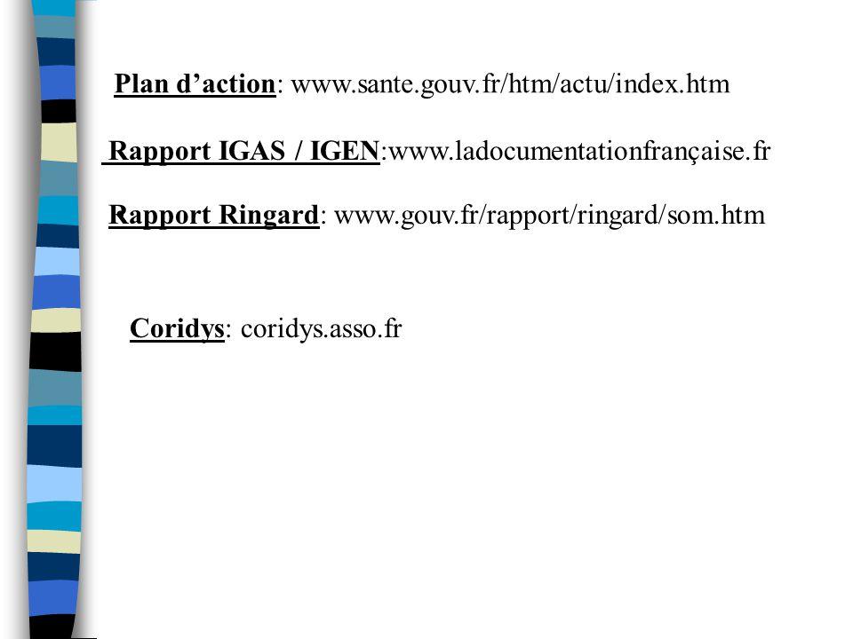 Plan d'action: www.sante.gouv.fr/htm/actu/index.htm