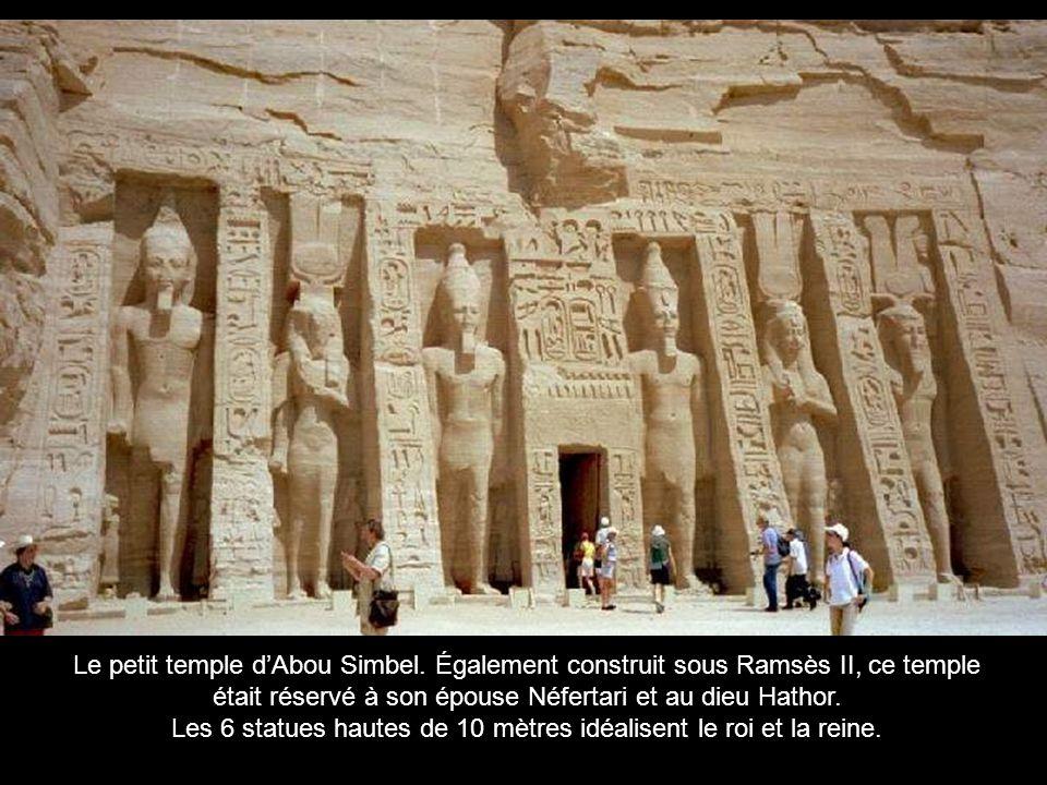 était réservé à son épouse Néfertari et au dieu Hathor.