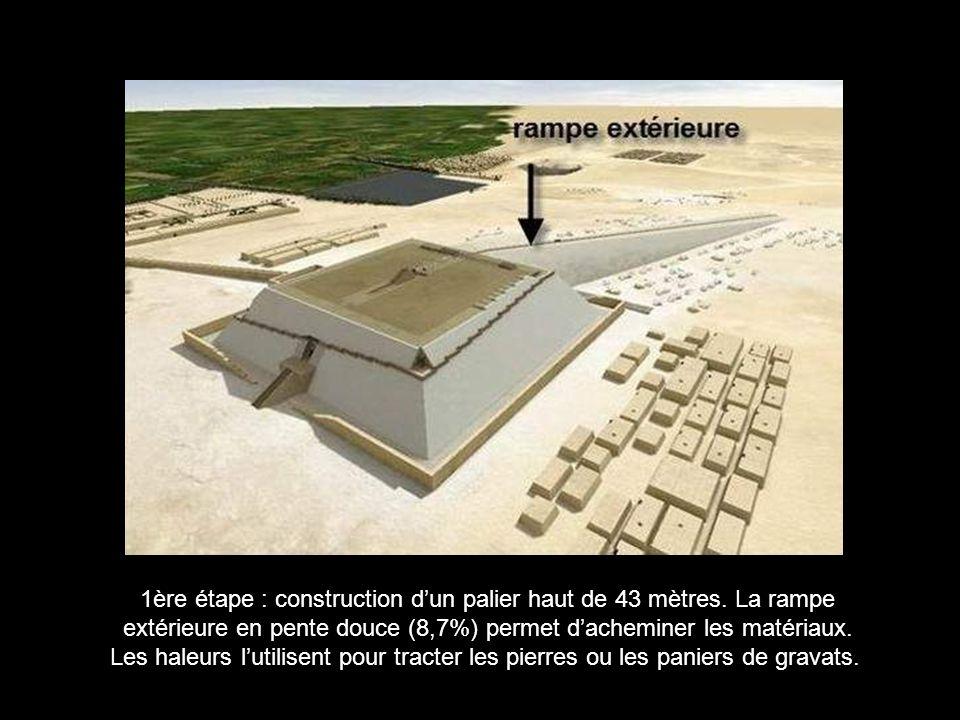 1ère étape : construction d'un palier haut de 43 mètres. La rampe