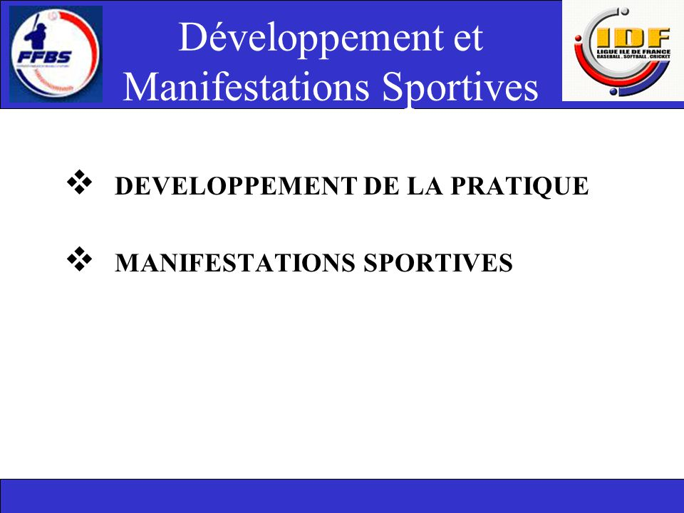 Développement et Manifestations Sportives