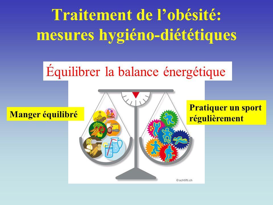 Traitement de l'obésité: mesures hygiéno-diététiques