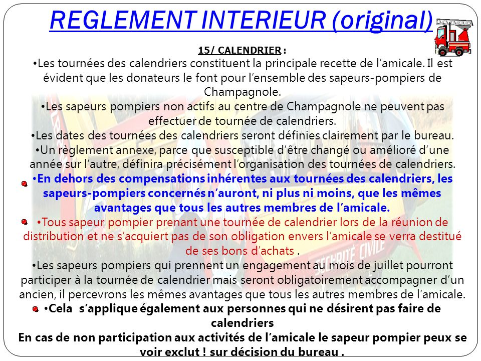 REGLEMENT INTERIEUR (original)