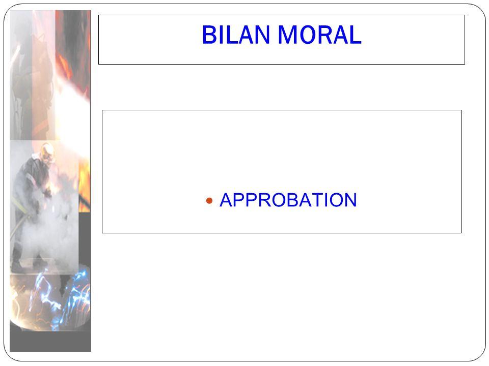 BILAN MORAL APPROBATION