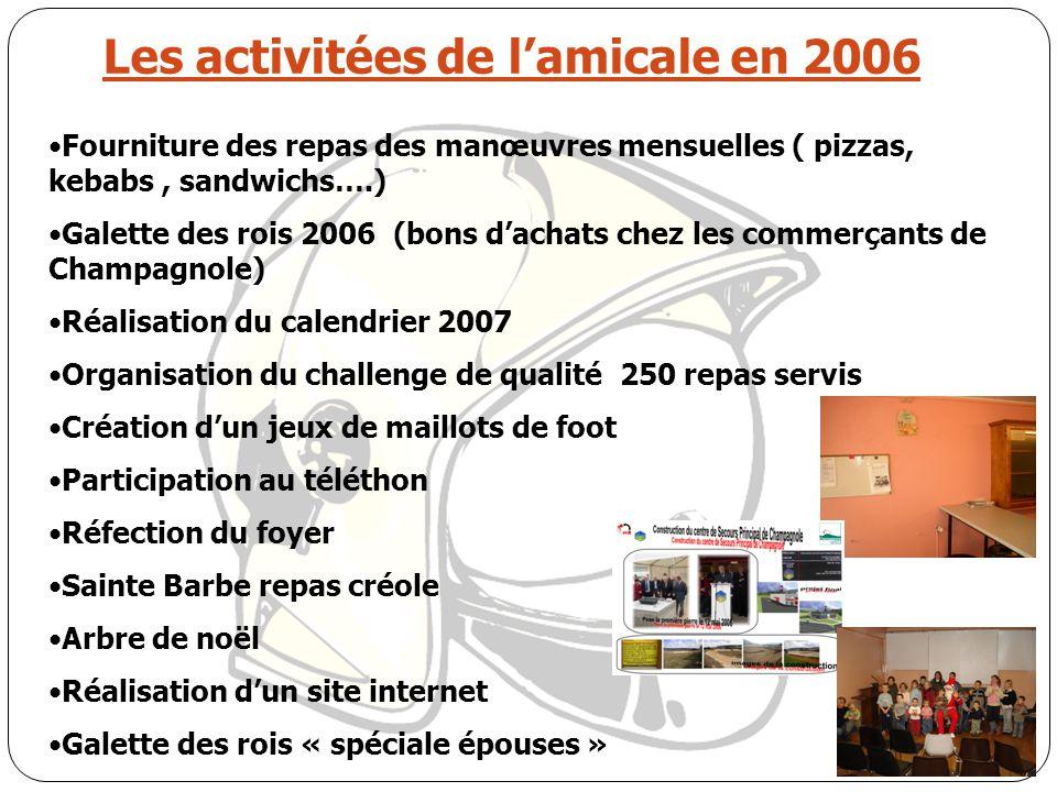 Les activitées de l'amicale en 2006