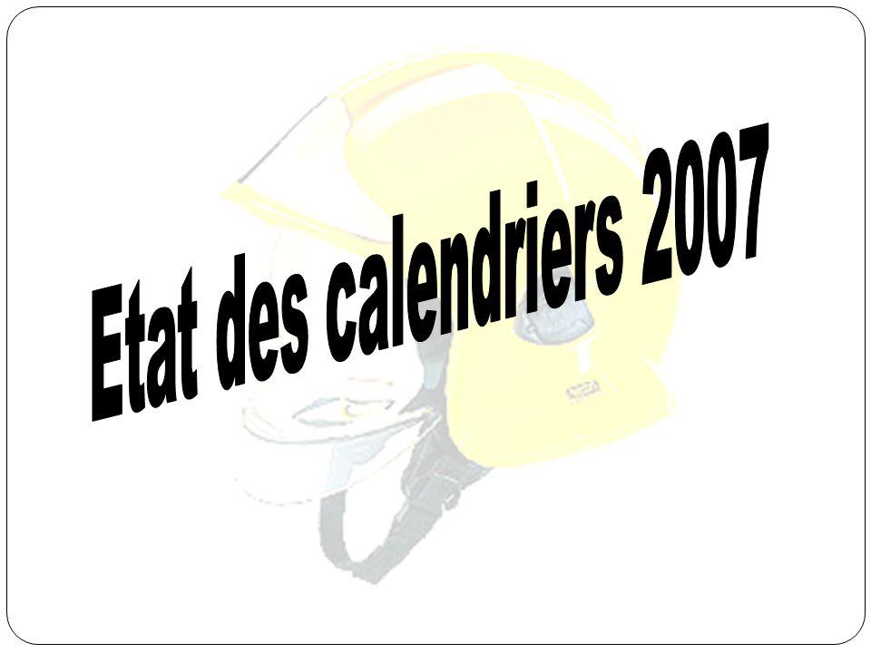 Etat des calendriers 2007