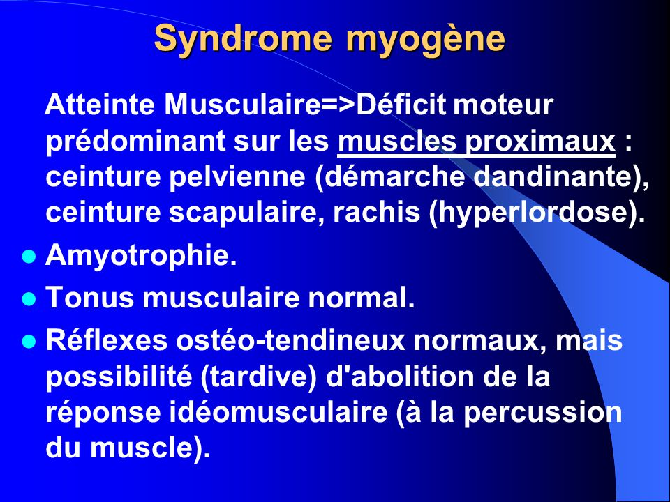 Syndrome myogène