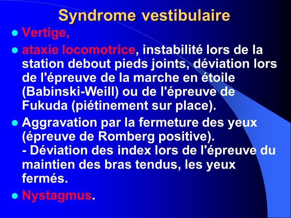 Syndrome vestibulaire