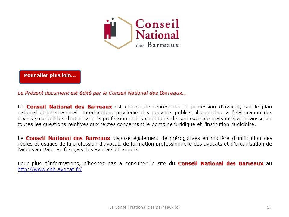 Le Conseil National des Barreaux (c)