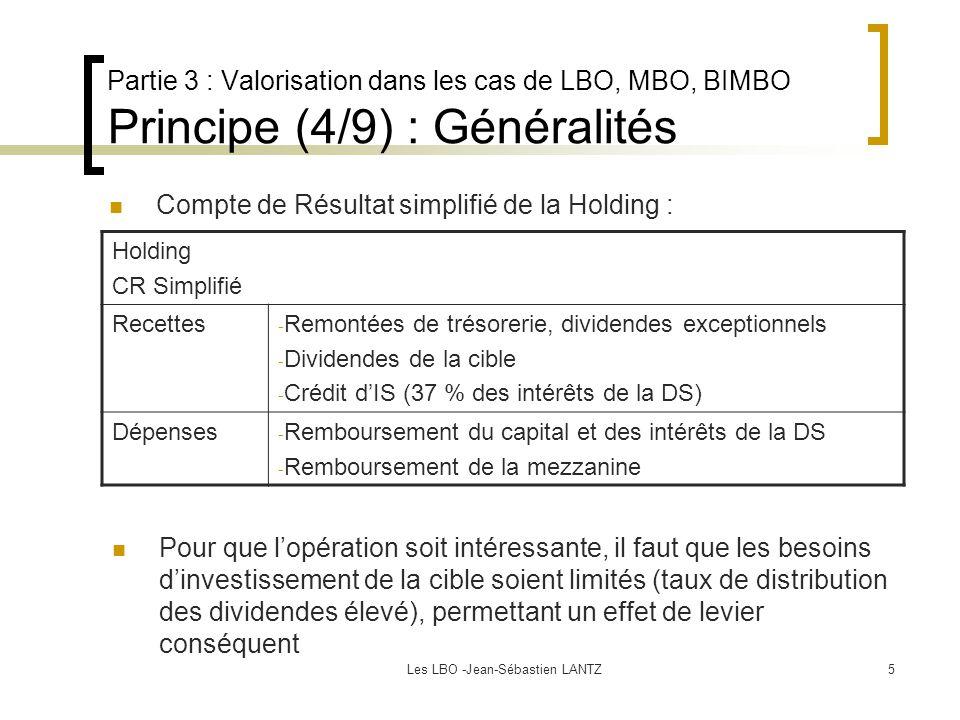Les LBO -Jean-Sébastien LANTZ