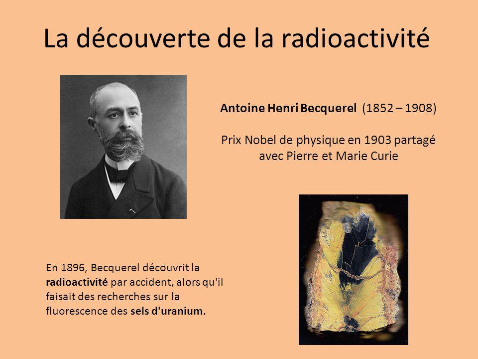 La découverte de la radioactivité