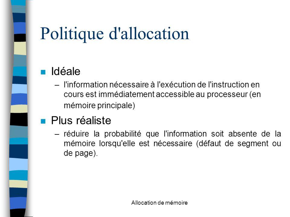 Politique d allocation