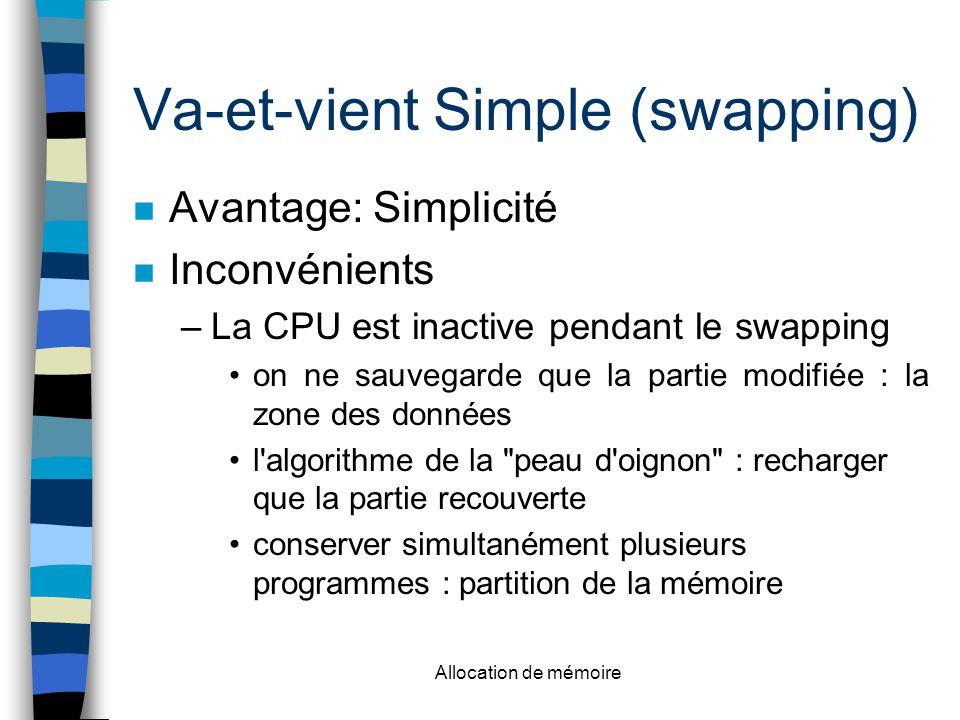 Va-et-vient Simple (swapping)