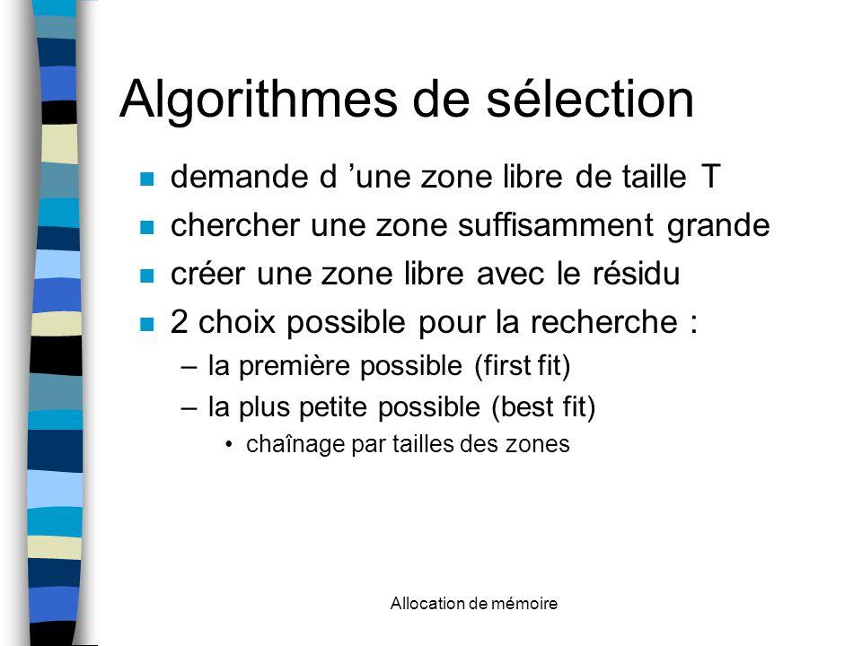 Algorithmes de sélection