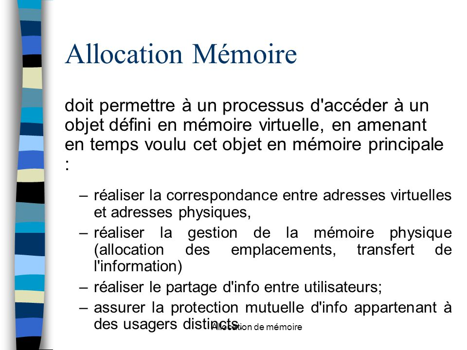Allocation Mémoire