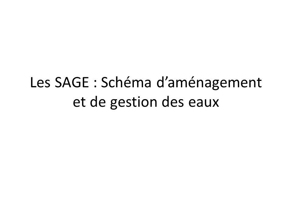 Les SAGE : Schéma d'aménagement et de gestion des eaux