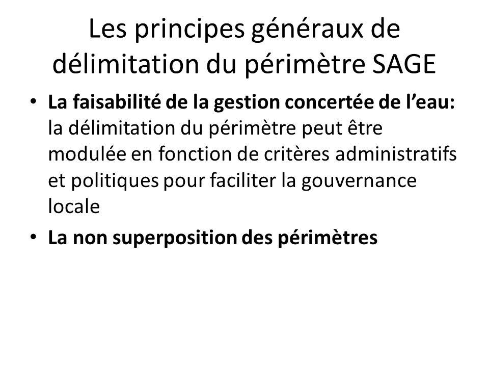 Les principes généraux de délimitation du périmètre SAGE