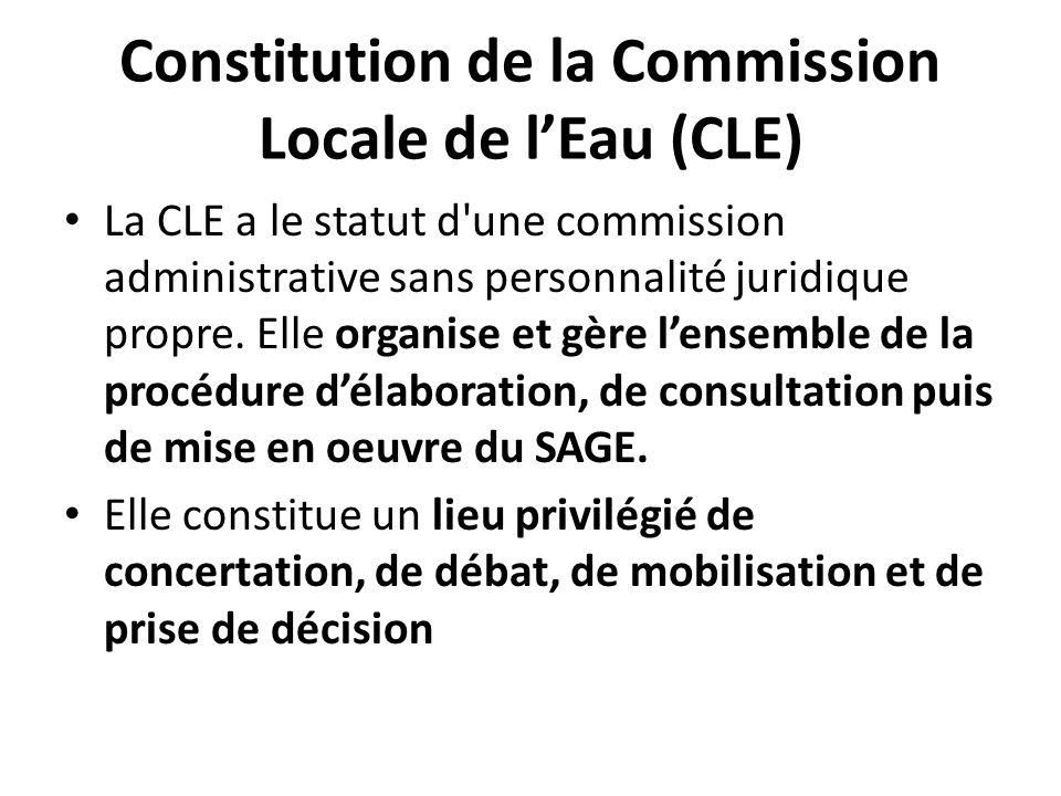 Constitution de la Commission Locale de l'Eau (CLE)