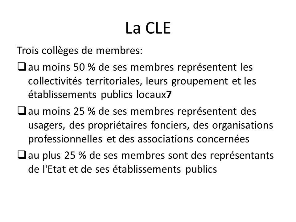 La CLE Trois collèges de membres: