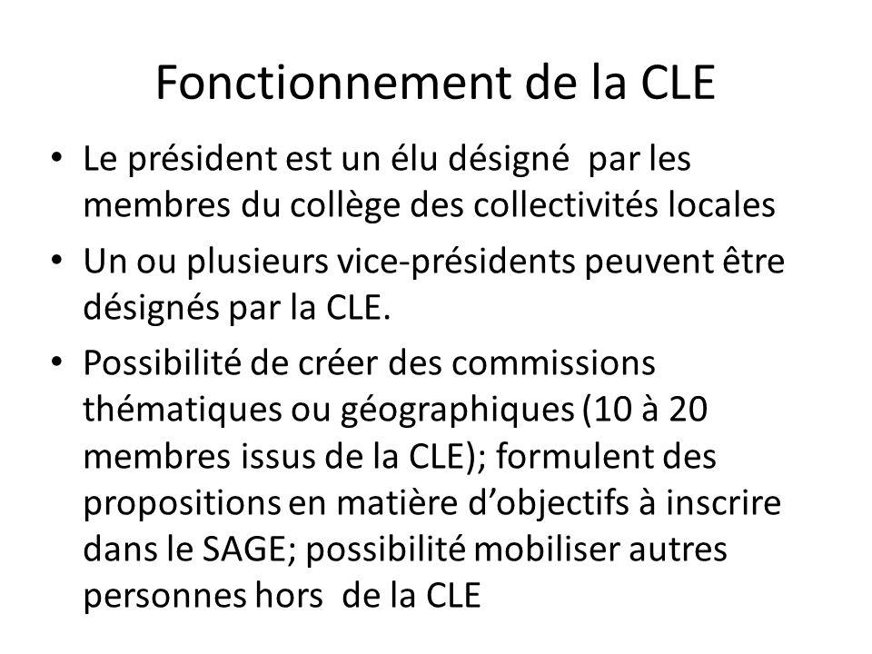 Fonctionnement de la CLE