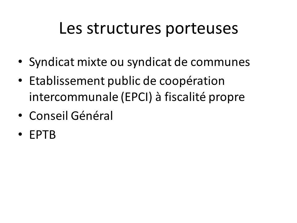 Les structures porteuses
