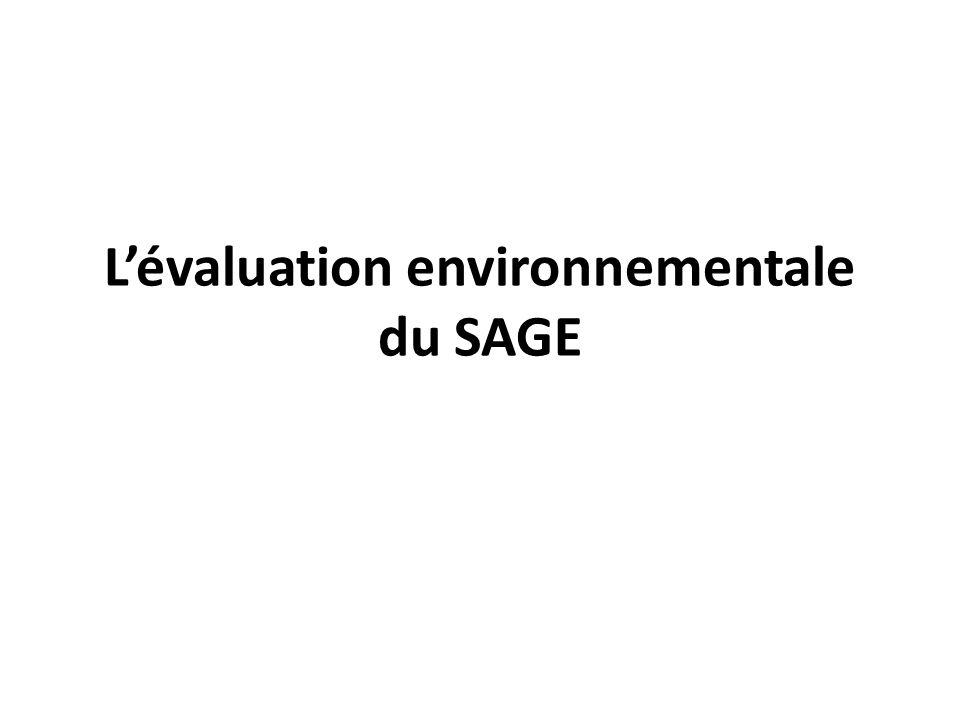 L'évaluation environnementale du SAGE