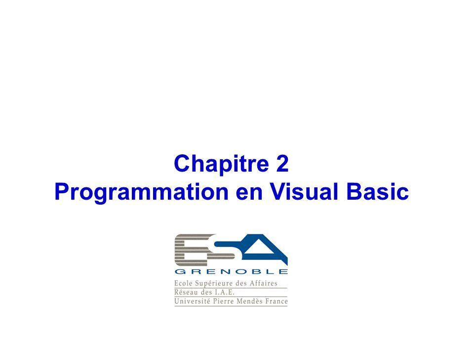 Programmation en Visual Basic